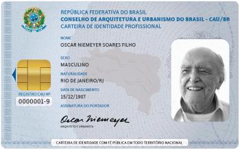 Carteira Profissional Oscar Niemeyer