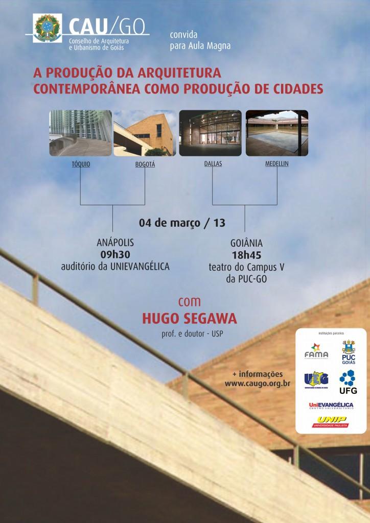 Cartaz de divulgação Aula magna