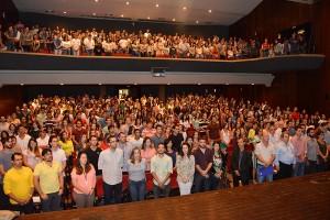 Auditório da PUC/GO cheio de pessoas