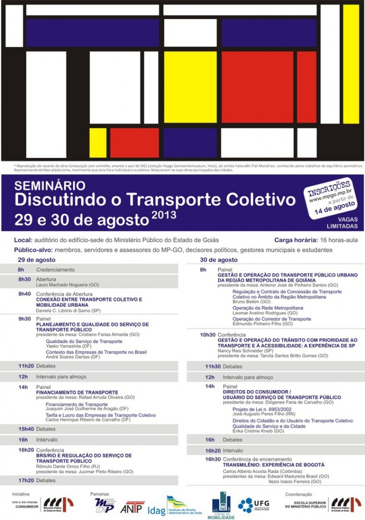 cartaz seminário transporte coletivo